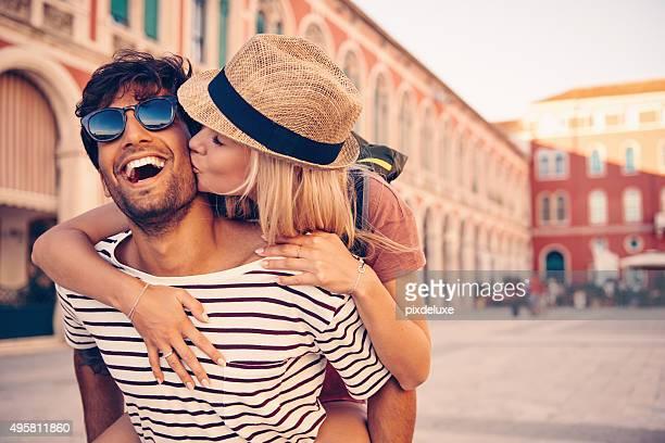 to travel is to follow your bliss - young couples stock pictures, royalty-free photos & images