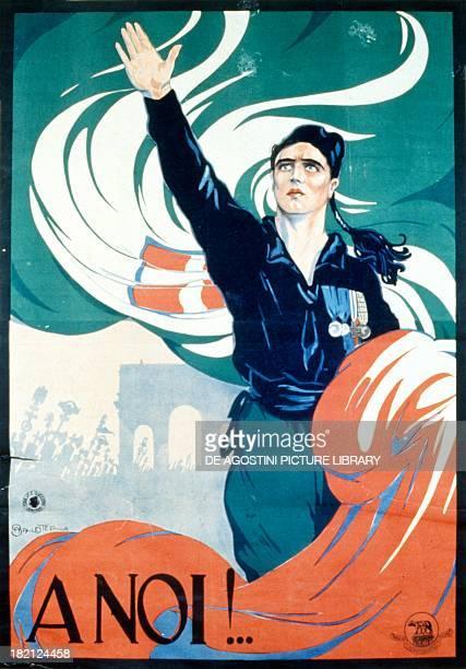 To us fascist poster by Anselmo Ballester Italy 20th century Treviso Museo Civico Raccolta Di Manifesti Salce