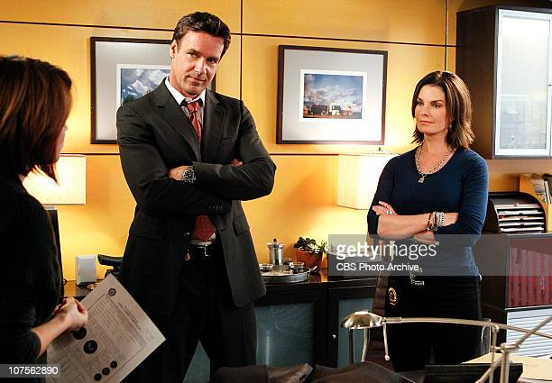 "To What End?"" -- Det. Lindsay Monroe Messer speaks with FBI Agent Russ Josephson and his ex-wife Det. Josephine ""Jo"" Danville on CSI:NY, scheduled to..."