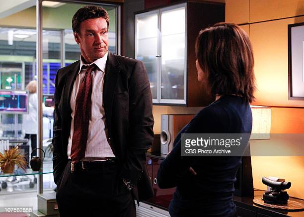To What End FBI Agent Russ Josephson speaks with his exwife Det Josephine Jo Danville on CSINY scheduled to air Friday Jan 7 on the CBS Television...