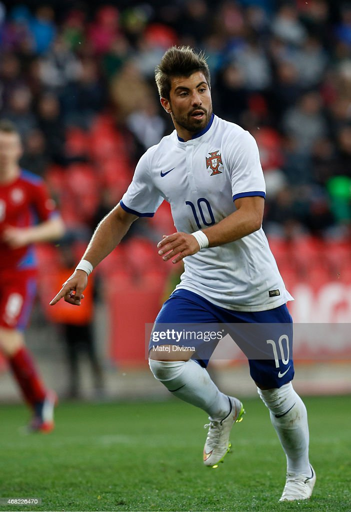 To Ze of Portugal in action during the international friendly match between U21 Czech Republic and U21 Portugal at Eden Stadium on March 31, 2015 in Prague, Czech Republic.