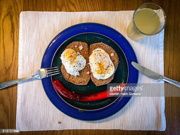 Toast and eggs