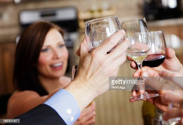 toast at a party - rich_legg stock photos and pictures