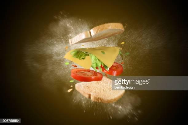 Toast, explodierte