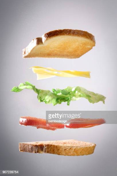 toast explosion - sandwich stock pictures, royalty-free photos & images