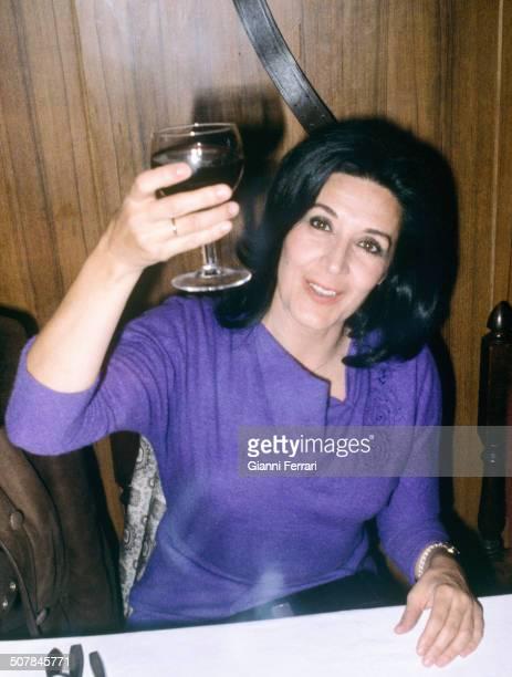 A toast of Spanish actress Concha Velasco 30th November 1979 Madrid Spain