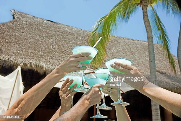 toast - margarita beach stock photos and pictures