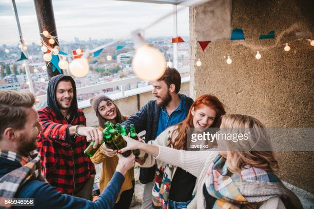 toast to the best times ever - saturday stock photos and pictures
