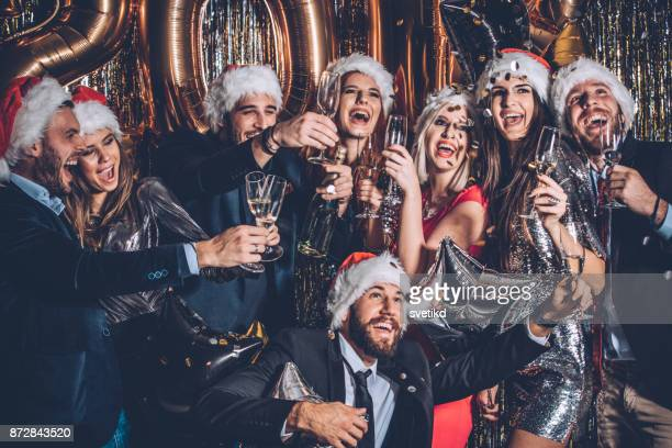 toast to the best times ever - The Best Christmas Party Ever
