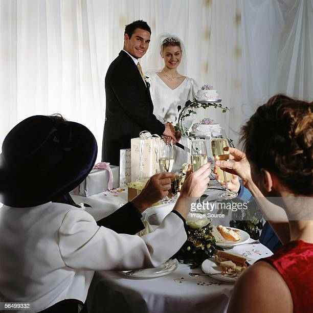 A toast to the newly-weds