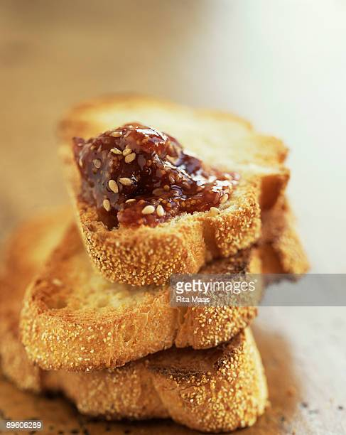 Toast with fig jam
