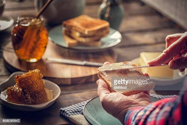 Toast with Honey for Breakfast