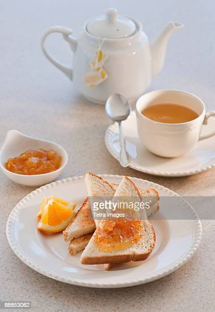 Toast with marmalade