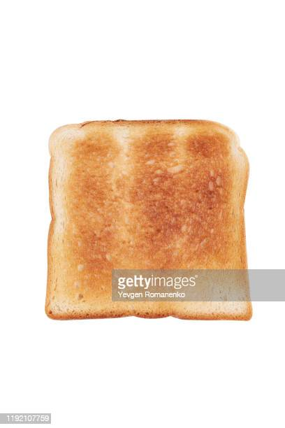 toasted bread isolated on white background - toasted bread stock pictures, royalty-free photos & images