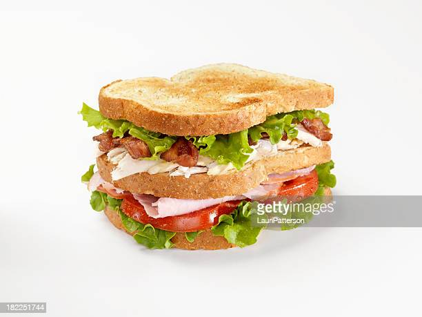 toasted club sandwich - club sandwich stock pictures, royalty-free photos & images