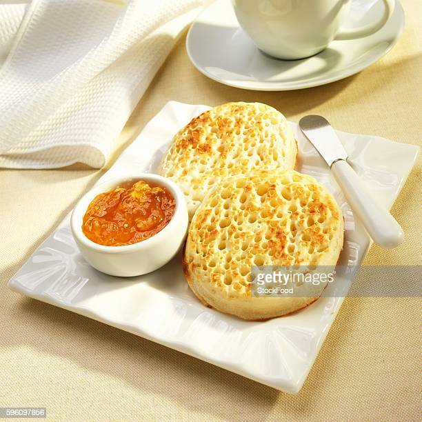 Toasted Crumpets with Orange Marmalade
