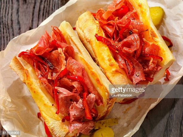 Toasted Italian Sandwich with Roasted Red Peppers