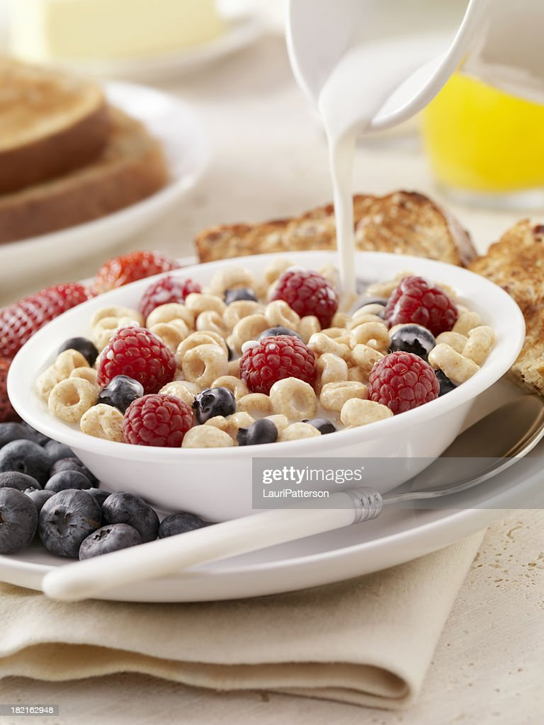 Toasted Oat Breakfast Cereal : Stock Photo