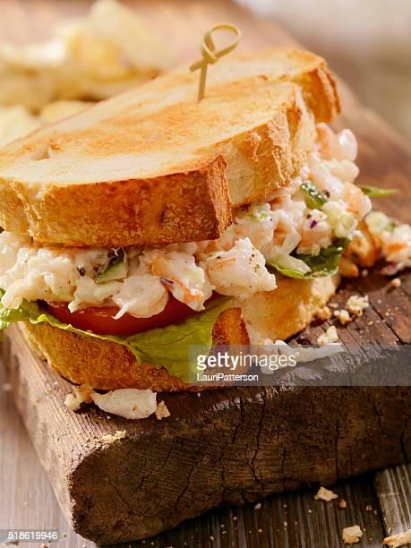 Toasted Seafood Salad Sandwich