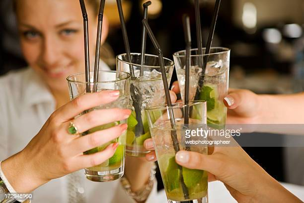 toasting - mojito stock photos and pictures