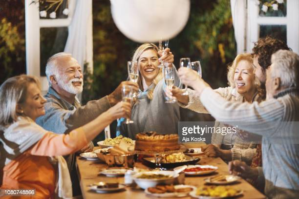 toasting to the good life. - free thanksgiving stock pictures, royalty-free photos & images