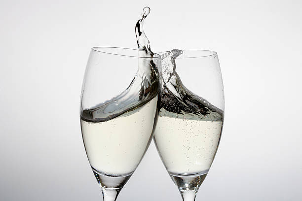 Toasting With Two Glasses Of Champagne Wall Art