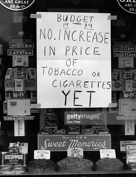 tobacco budget - 1939 stock-fotos und bilder