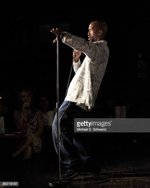 Tobe Hixx performs at the Ice House Comedy Club on October 9 2008 in Pasadena California
