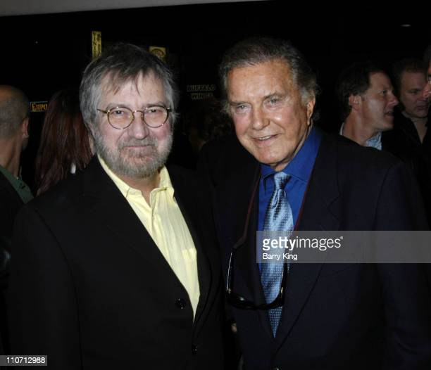Tobe Hooper and Cliff Robertson during 'Stephen King's Riding The Bullet' World Premiere Red Carpet at Westwood Crest Theatre in Westwood California...