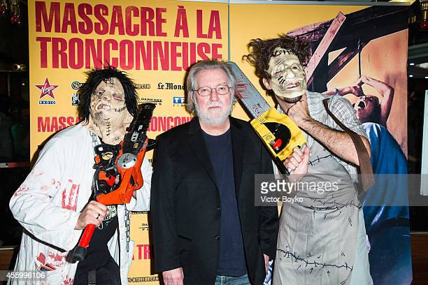 Tobe Hooper attends the Texas Chain Saw Massacre screening For Film's 40th Anniversary In Paris at Le Grand Rex on September 23 2014 in Paris France
