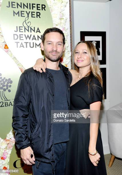 Tobey Maguire and Jennifer Meyer at Giltcom Jennifer Meyer Jenna Dewan Tatum's Exclusive Jewelry Collection Launch Benefitting Baby2Baby at Sunset...