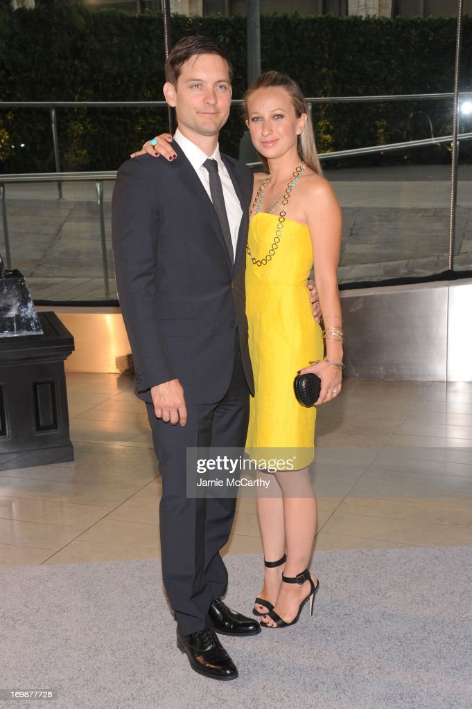 Tobey Maguire and Jennifer Meyer attend 2013 CFDA Fashion Awards at Alice Tully Hall on June 3, 2013 in New York City.