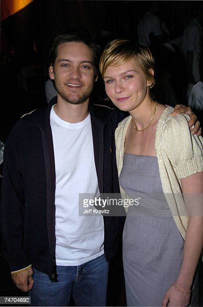 Tobey Maguire and Kirsten Dunst at the Nickelodeon's 17th Annual Kids' Choice Awards Backstage at Pauley Pavillion in Westwood California