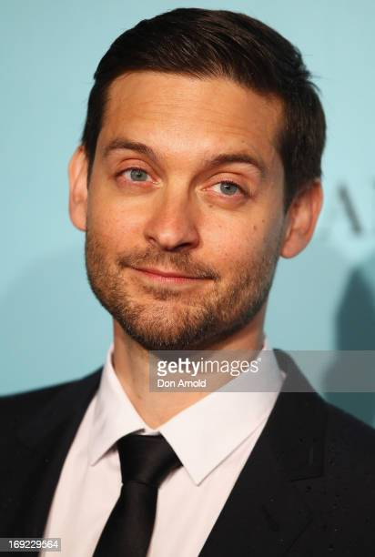Tobey Maguire arrives for the Sydney premiere of 'The Great Gatsby' at The Entertainment Quarter on May 22 2013 in Sydney Australia