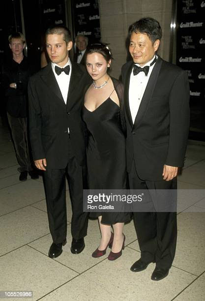 Tobey Maguire Christina Ricci and Ang Lee during 35th New York Film Festival The Ice Storm New York Premiere at Avery Fisher Hall in New York City...