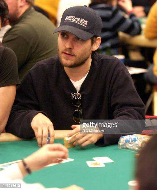 Tobey Maguire during 2004 World Poker Celebrity Match at Commerce Casino in Commerce California United States