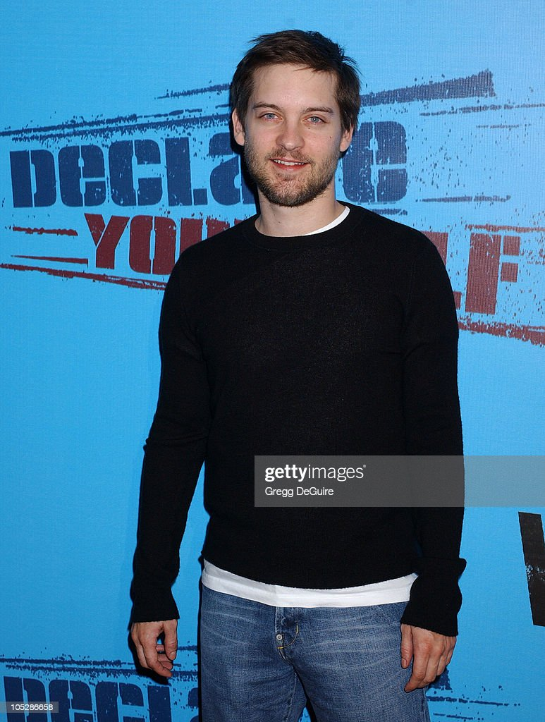 Tobey Maguire during Celebrities Supporting 'Declare Yourself': A National Nonpartisan, Nonprofit Campaign Inspiring Young Adults To Participate In The 2004 Election at Historic Beverly Hills Post Office in Beverly Hills, California, United States.
