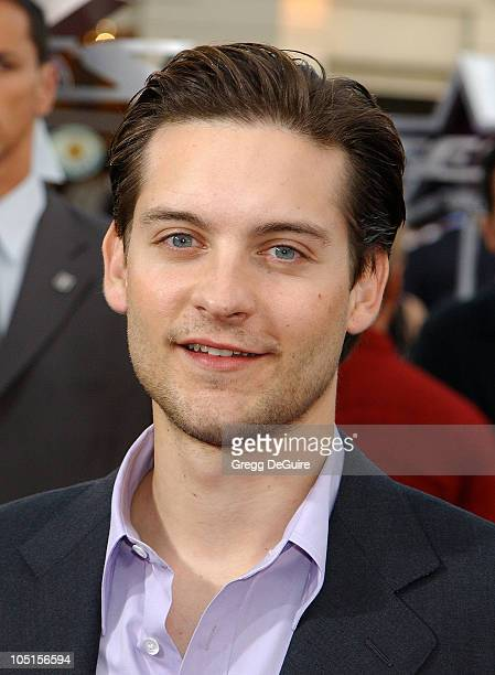 Tobey Maguire during 'Seabiscuit' Premiere at Mann Village Theatre in Westwood California United States