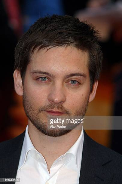 Tobey Maguire during SpiderMan 2 London Premiere Arrivals at Odeon Leicester Square in London England Great Britain