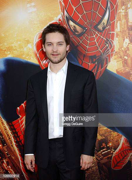 Tobey Maguire during SpiderMan 2 Los Angeles Premiere Arrivals at Mann Village in Westwood California United States
