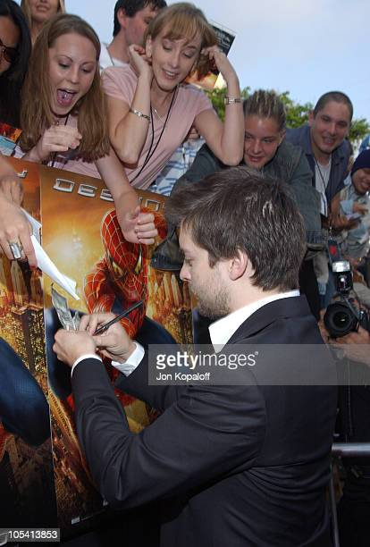 Tobey Maguire during 'SpiderMan 2' Los Angeles Premiere at Mann Village in Westwood California United States