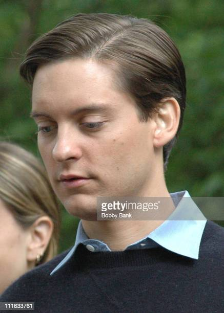 Tobey Maguire during SpiderMan 3 Filming on Location in New York City June 15 2006 at Central Park in New York City New York United States