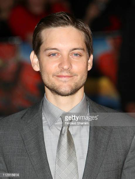 """Tobey Maguire during """"Spider-Man 3"""" London Premiere - Red Carpet at Odeon Leicester Square in London, United Kingdom."""