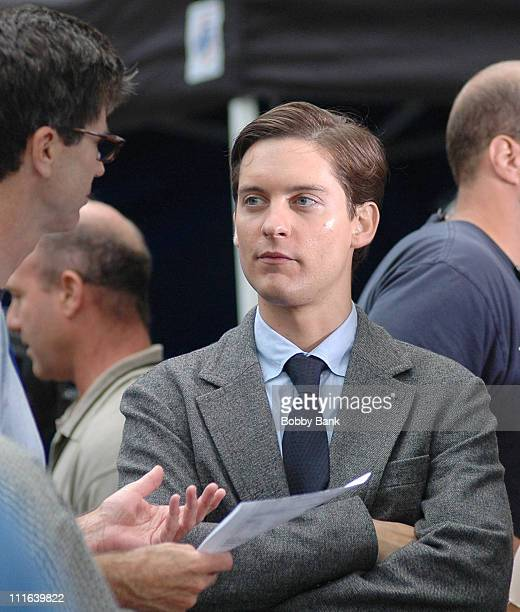 Tobey Maguire during 'SpiderMan 3' on Location in Brooklyn New York June 26 2006 at Streets of Brooklyn in New York City New York United States