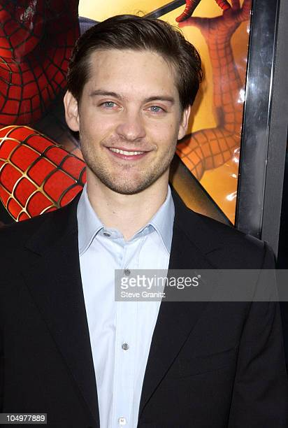 Tobey Maguire during 'SpiderMan' Premiere at Mann Village in Westwood California United States
