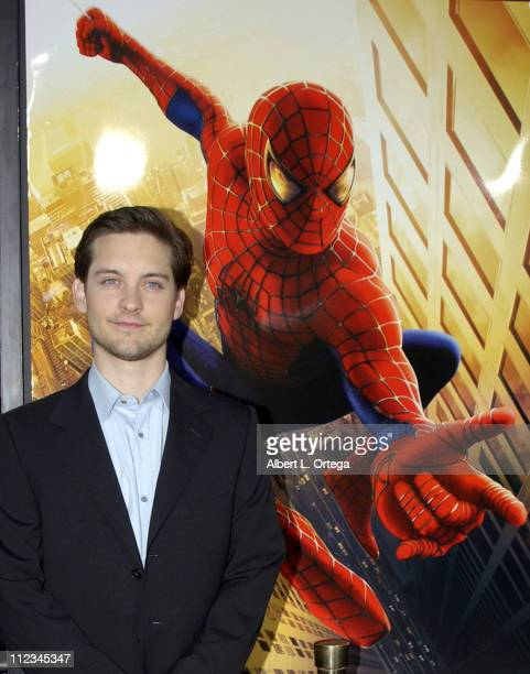 Tobey Maguire during SpiderMan Premiere at Mann Village in Westwood California United States