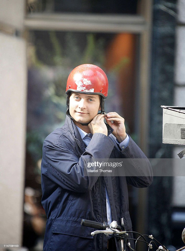 """Tobey Maguire on Set of """"Spider-Man 3"""" - June 18, 2006"""