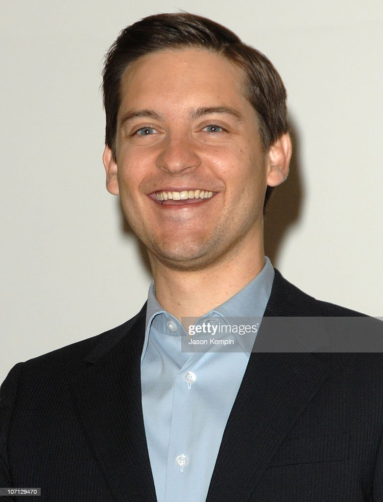 "Tobey Maguire Visits The ""SPIDERS: ALIVE!"" Exhibit At The American Museum Of"