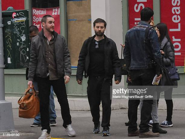Tobey Maguire is seen on March 15 2016 in New York City