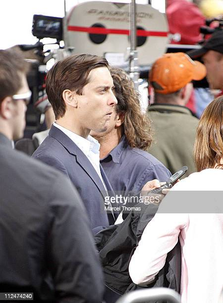 Tobey Maguire on the set of SpiderMan 3 in Foley Square lower Manhattan June 10 2006